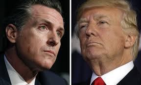 Image result for Trump VS gavin newsom